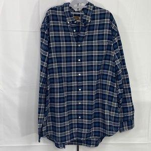 The Foundry Plaid Cotton Button Down Shirt 2XLT